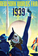 ART AD 1939 NEW YORK Worlds Fair travel poster print