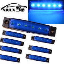 8X Hot 12V Side Marker Indicators Lights 6 LED for Truck Bus Trailer Ultra Blue