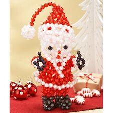 "Craft Kit makes 1  Bubble Bead Santa  10""     NEW"