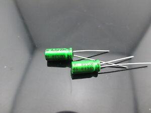 JAPAN 2PCS Nichicon MUSE ES BP 4.7uf 25v 4.7mfd Audio Capacitor Caps