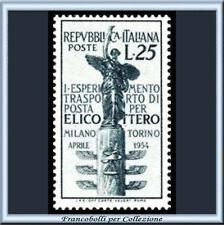 1954 Italia Repubblica Elicotero Milano Torino n 738 **