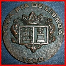 "Coat of Arms/ ""Casa Pia"" of Lisbon 1780/ School of Horology/ Great Bronze (M.**)"