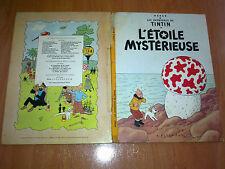 Les aventures de Tintin ,L´ÉTOILE MYSTÉRIEUSE B36 1966 HERGÉ CASTERMAN FRANCES