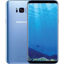 "Samsung Galaxy S8 SM-G950U Désimlocké 64 Go Bleu SIM Free 12 MP 4G LTE 5,8"""