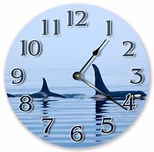 "10.5"" KILLER WHALES CLOCK -  Large 10.5"" Wall Clock - Home Décor Clock - 3087"