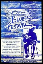 8th Annual Sacramento Blues Festival Concert Poster B Bland L Milton Mayall 1984
