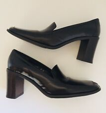 Gorgeous Vintage Coach Elsa Patent Leather High Heel Loafers Pumps 8 Narrow