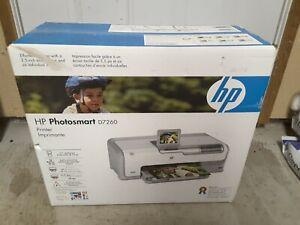 NEW! HP Photosmart D7260 Digital Photo Inkjet Printer (CC975A)