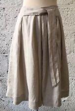 Zara Knee Length Linen Flippy, Full Skirts for Women