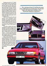 1992 SAAB 9000CS Turbo  Original Car Review Print Article J567