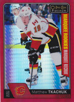 16-17 OPC Platinum Matthew Tkachuk /199 Rookie RED PRISM Flames 2016