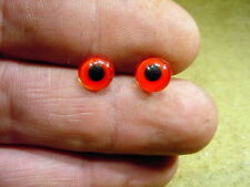 a pair vintage solid doll glass eyes 8 mm for bisque doll head age 1910  3309