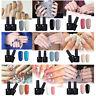 2stk/set Gel Nails Nagellack Glitzer UV Gel Lack Soak Off Maniküre Kit Tips DIY