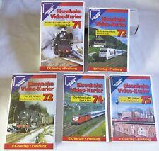 """VHS ferrocarril video-mensajero - 5 gastos"""" 71-75"""" - contenido ver fotos-Top-en su embalaje original"""