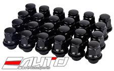 24pc MAG 37mm Black Lug Nut 12x1.5 M12 P1.5 21HEX For Mitsubishi OEM Wheel