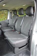 Opel Vivaro Sportive Crewcab 3rd gen black van seat covers