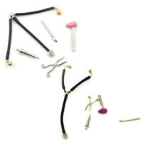 5pcs/set Mini Medical Device Tool Dollhouse Miniature Auscultation StethoscopeLT