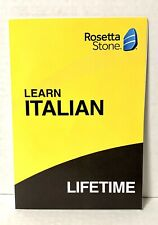 Rosetta Stone Italian Lifetime Subscription