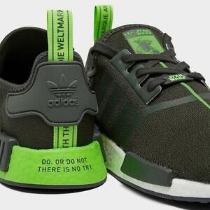 Men's Adidas NMD_R1 Star Wars Shoes Yoda Green Size US 9