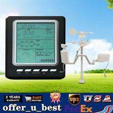 433Mhz Solar Power Wireless Rain Gauge Weather Station Thermometer Calendar