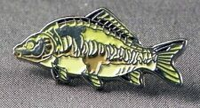 Metal Enamel Pin Badge Brooch Fish Carp Mirror Carp Fishing Angler Angling