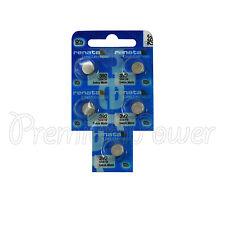 5 x Renata 392 Silver oxide batteries 1.55V SR41SW SR41 384 Watch 0% Mercury