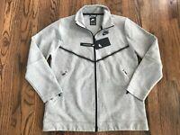 60 Nike Sportswear Tech Fleece Womens Full Zip Jacket Gray CW4296-063 NWT Sz XS