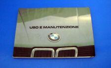 BMW Serie 5 mod. 518, 520i, 525i e 528i Libretto Uso e Manutenzione 1981 ITA