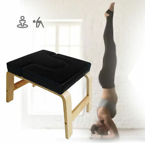 Professional Black Yoga Chair Exercise Headstand Inversion Bench Headstander Kit