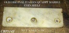 Old/Orig Sm Mdl 5 Brass Nat'l Candy Store Cash Register Coin Shelf 3 Hole Marble