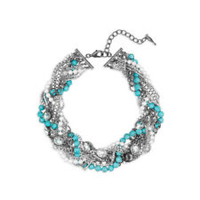 Chloe and Isabel Turquoise + Chain Torsade Necklace #N072TU