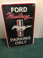 """Ford Mustang Parking Only   8"""" x 12""""  Metal Novelty Sign Garage Man Cave    #A2"""