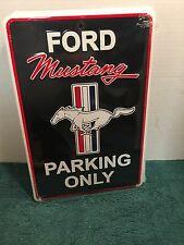 "Ford Mustang Parking Only   8"" x 12""  Metal Novelty Sign Garage Man Cave    #A2"