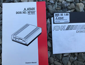 Atari OWNERS MANUAL for XF551 Disk Drive w/DOS XE DX 5090 NEW 800/XL/XE