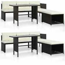 vidaXL Juego de Muebles de Jardín Sofá y Mesa Exterior Ratán PE Negro/Marrón