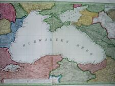 1856 ANTIQUE MAP BLACK SEA ARMENIA ROMANIA BULGARIA UKRAINE TURKEY RUSSIA CRIMEA
