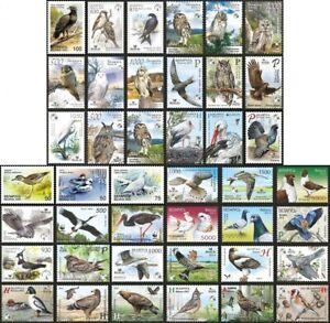 Stamp SET of BELARUS 1998 - 2021 - The birds of Belarus (60 stamps)