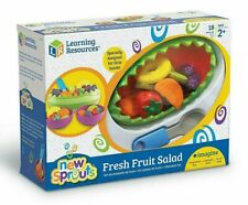 Learning Resources New Sprouts Fresh Fruit Salad | 18-Piece Toy Play Set