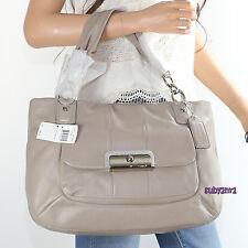 NWT Coach Kristin Leather Zip Tote Hobo Shoulder Bag 16814 Mushroom NEW RARE