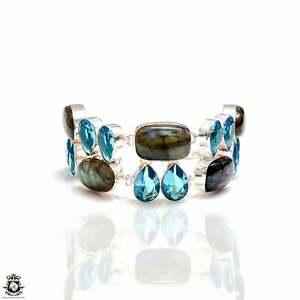 Labradorite Blue Topaz Bracelet B4189