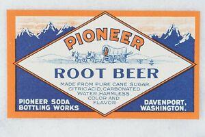 Pioneer Root Beer & Ginger Ale, Pioneer Soda Bottling Works Davenport Washington