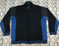 Cheetah Men's Full Zip Jacket Athletic Long Sleeve Fleece Blue/Gray Size XL