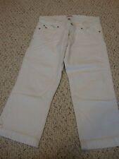 Women's jrs AMBERCOMBIE & FITCH white jean capri pants, 6