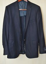 $1495 Hickey Freeman Men's 100% Cashmere Navy Twill 44/Long Slim Sport Coat