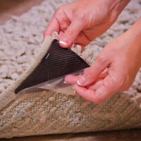 Home Rug Carpet Gripper NON Slip Mat Grippers SKID Reusable Washable Silicone