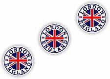 STICKER London England 3x small seals 3cm Bumper Tablet Door Bike Book