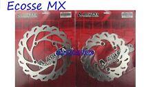 Kawasaki KX125 KX250 1989-2002 Front & Rear Brake Wavey Discs Artrax Motocross