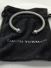 David Yurman bracelet  Silver with Diamonds and Blue Topaz Retail $895.00+Tax