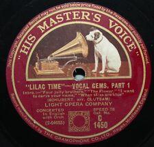 """12"""" 78 - Light Opera Company - Lilac Time - Vocal Gems - HMV C1450"""