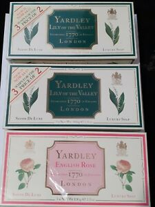Yardley Lily Of The Valley/english Rose Luxury Soaps
